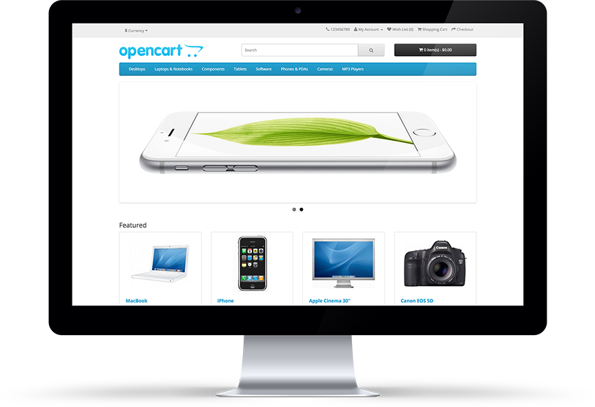 OpenCart 2.x Front